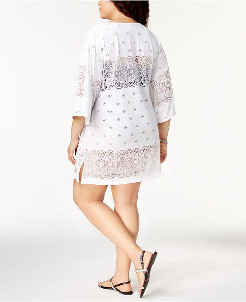 769b4a287f4f7 Dotti Plus Size Free Spirit Kimono Cover-Up   Reviews - Swimwear ...