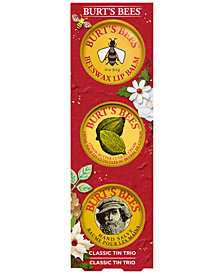 Burt's Bees 3-Pc. Classic Tin Holiday Gift Set