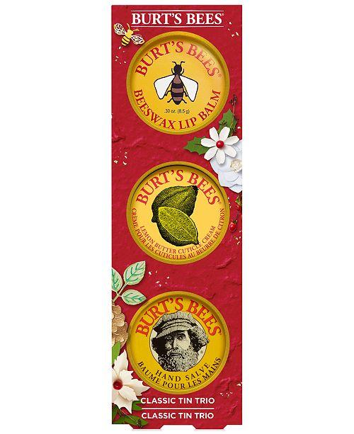 Burt's Bees 3-Pc. Classic Tin Holiday Gift Set