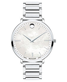 Movado Women's Swiss Ultra Slim Stainless Steel Bracelet Watch 35mm