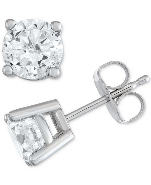 Macy's Star Signature Diamond Stud Earrings (1-1/2 ct. t.w.) in 14k Gold or White Gold