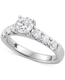 Engagement Ring (1-5/8 ct. t.w.) in 14k White Gold