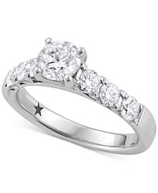 Macy's Star Signature Diamond™ Engagement Ring (1-5/8 ct. t.w.) in 14k White Gold