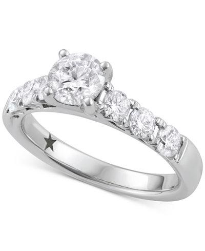 Macy's Star Signature Diamond™ Engagement Ring (1-5/8 ct. t.w.) in 14k White Gold