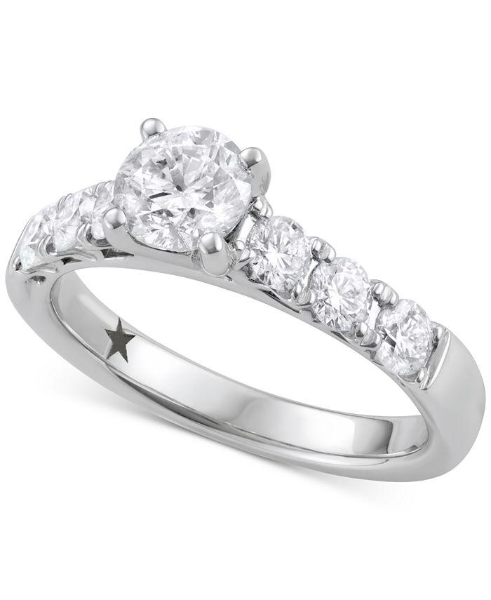 Macy's Star Signature Diamond - ™ Engagement Ring (1-5/8 ct. t.w.) in 14k White Gold