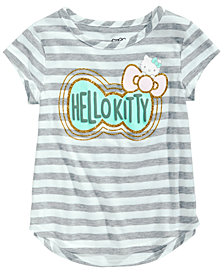 Hello Kitty Toddler Girls Striped Bow-Print T-Shirt