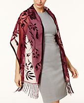 I.N.C. Floral Scroll Evening Wrap, Created for Macy's