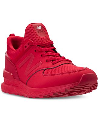new balance men's 574 synthetic shoes red