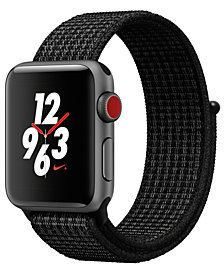 Apple Watch Nike+ (GPS + Cellular),  38mm Space Gray Aluminum Case with Black/Pure Platinum Nike Sport Loop