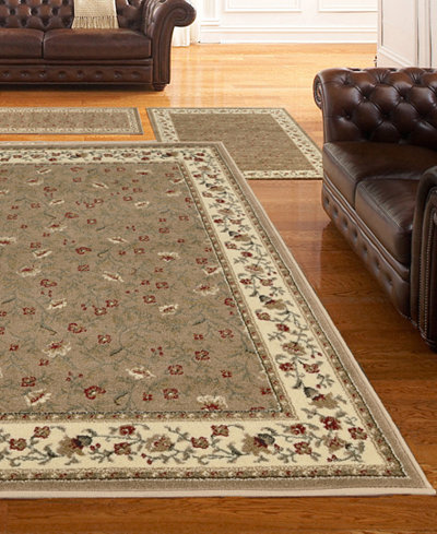 Km Home Roma Floral 3 Pc Area Rug Set Rugs Macy S