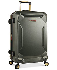 "Timberland Basin Harbor 21"" Hardside Expandable Carry-On Spinner Suitcase"