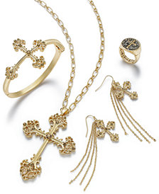 Thalia Sodi Gold-Tone Crystal Cross Jewelry Separates, Created for Macy's