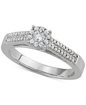 7b492c2ff02897 Diamond Halo Engagement Ring (3/8 ct. t.w.) in 14k White Gold