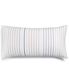 "Charter Club Damask Designs Cotton Stripe 12"" x 24"" Decorative Pillow, Created for Macy's"
