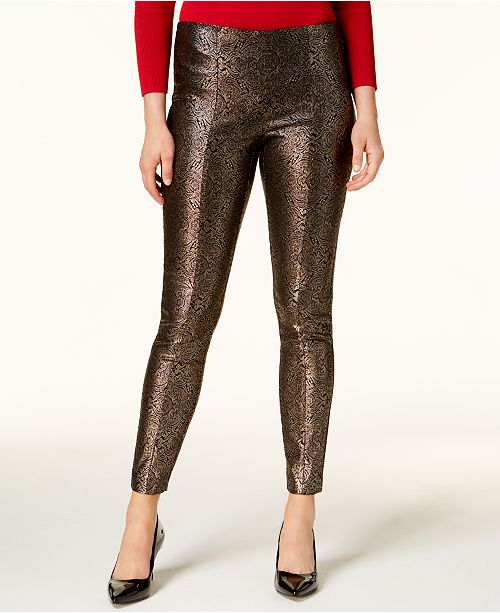 Metallic Ponte Skinny Pants, Created for Macy's