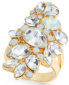 I.N.C. Gold-Tone Crystal Cluster Ring, Created for Macy's