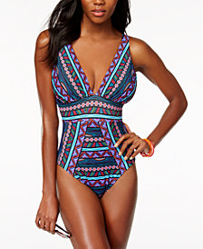 Miraclesuit Caravan Odyssey Printed Allover Slimming One-Piece Swimsuit