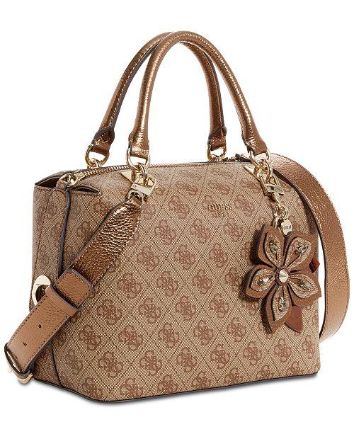 61aa0183cb GUESS Sibyl Signature Small Box Satchel   Reviews - Handbags ...