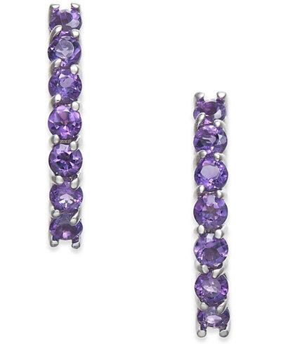 Amethyst Drop Earrings 1 3 8 Ct T W In 14k White
