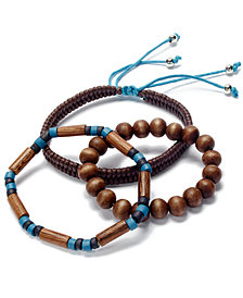 Rogue Accessories Men's 3-Pc. Sandpoint Bracelet Set
