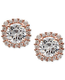 Giani Bernini Cubic Zirconia Halo Stud Earrings in Sterling Silver, Created for Macy's