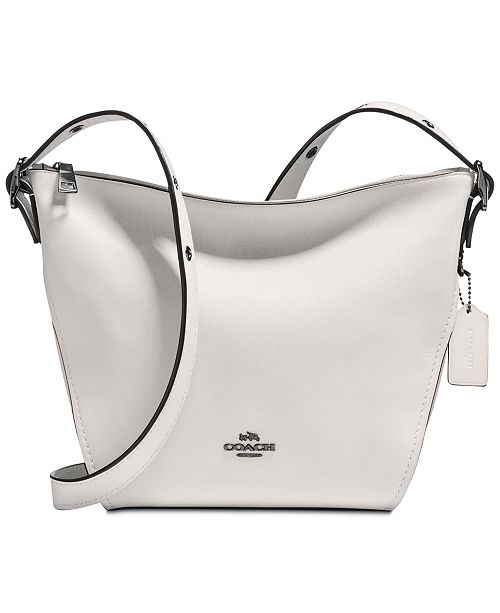 COACH Crossbody Dufflette in Refined Leather   Reviews - Handbags ... 61080bf656180