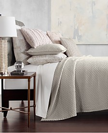 Hotel Collection Speckle Cotton Quilted Full/Queen Coverlet, Created for Macy's