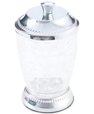 Serene Crackle Glass Cotton Jar, Created for Macy's