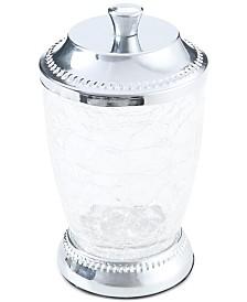JLA Home Serene Crackle Glass Cotton Jar, Created for Macy's