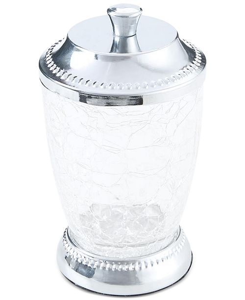 JLA Home Serene Crackle Glass Cotton Jar, Created for Macy's