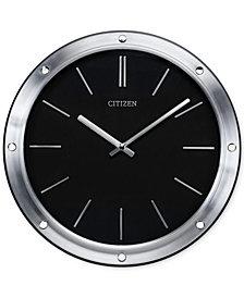 Citizen Gallery Silver-Tone Metal Wall Clock