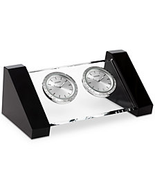 Citizen Workplace Crystal & Silver-Tone Metal Dual Time Clocks