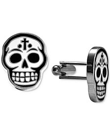 King Baby Men's Enamel Skull Cuff Links in Metal Alloy