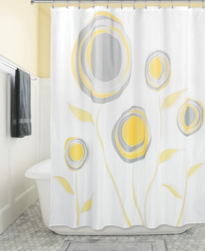 Interdesign Botanical Marigold 72 x 72 Shower Curtain Bedding