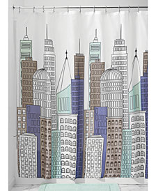 "Interdesign Skyline 72"" x 72"" Shower Curtain"