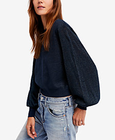 Free People Let It Shine Balloon-Sleeve Sweater