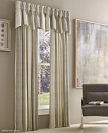 """J Queen New York Valdosta Cotton Stripe 50"""" x 84"""" Rod Pocket Curtain Panel"""