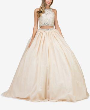 DANCING QUEEN | Dancing Queen Juniors' Embellished Lace 2-Pc. Gown | Goxip