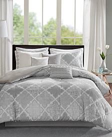 Madison Park Cadence 9-Pc. Cotton King Comforter Set