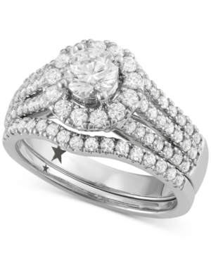 Halo Engagement Bridal Set (1-3/4 ct. t.w.) in 14k White Gold