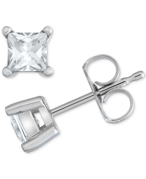 Macy's Star Signature Diamond Stud Earrings (1/2 ct. t.w.) in 14k Gold or White Gold
