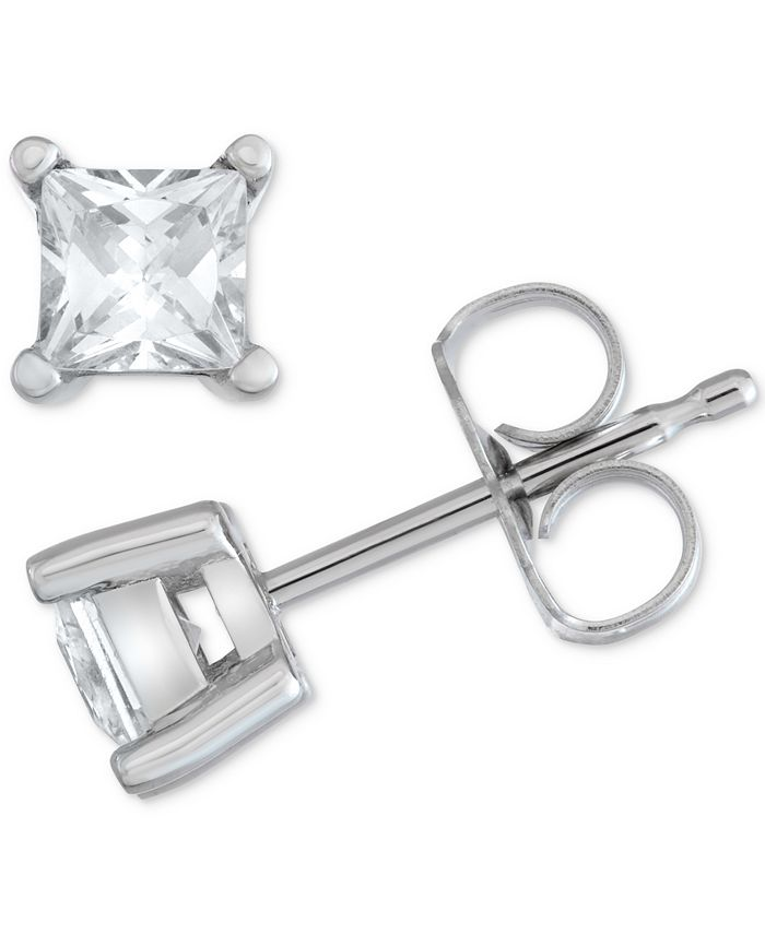Macy's Star Signature Diamond - Certified ™ Stud Earrings (1/2 ct. t.w.) in 14k Gold or White Gold