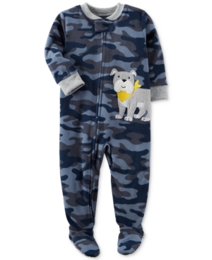 Carters 1Pc CamoPrint Dog Footed Pajamas Toddler Boys (2T5T)