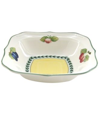 Dinnerware, French Garden Square Individual Salad Bowl