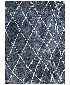 "Couristan Enclave Shag Whistler Blue-Snow 2'2"" x 7'10"" Runner Area Rug"
