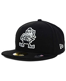 New Era Cleveland Browns Black And White 59FIFTY Fitted Cap