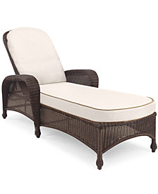 Monterey Wicker Outdoor Chaise Lounge: with Custom Sunbrella®,  Created for Macy's