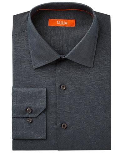 Tallia Men's Fitted Metallic Solid Dress Shirt