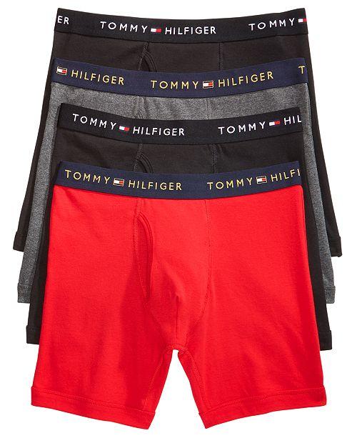 09da38863064 Tommy Hilfiger Men's 4-Pack. Cotton Boxer Briefs & Reviews ...