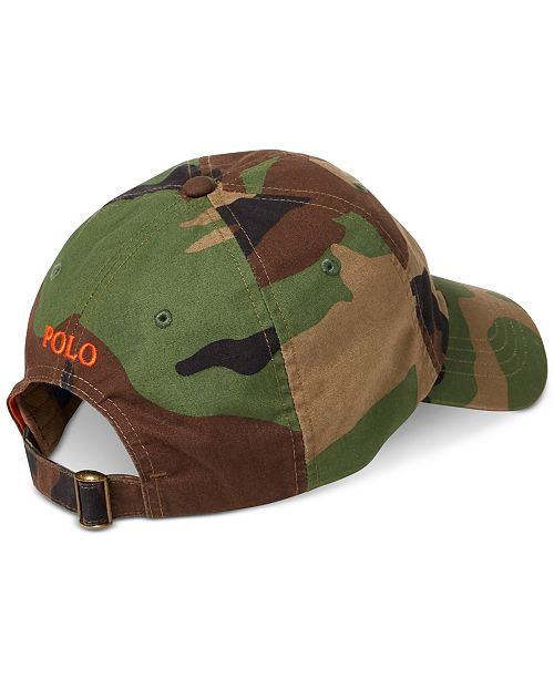 Polo Ralph Lauren Men s Camo Canvas Sports Cap - Hats 8d8967b0631